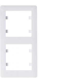 lumina soul Ramka 2-krotna pionowa, biały Hager WL5120