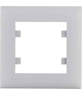 lumina intense Ramka 1-krotna, srebrny Hager WL5512