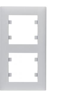 lumina intense Ramka 2-krotna pionowa, srebrny Hager WL5622