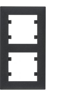 lumina intense Ramka 2-krotna pionowa, czarny Hager WL5623