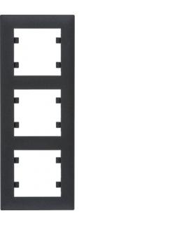 lumina intense Ramka 3-krotna pionowa, czarny Hager WL5633