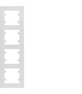 lumina intense Ramka 4-krotna pionowa, biały Hager WL5640