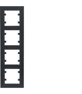 lumina intense Ramka 4-krotna pionowa, czarny Hager WL5643