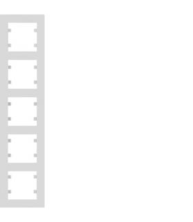 lumina intense Ramka 5-krotna pionowa, biały Hager WL5650