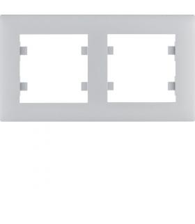 lumina intense Ramka 2-krotna pozioma, srebrny Hager WL5722
