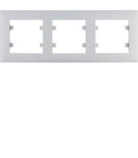 lumina intense Ramka 3-krotna pozioma, srebrny Hager WL5732