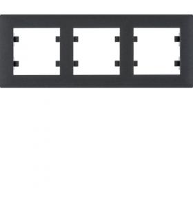 lumina intense Ramka 3-krotna pozioma, czarny Hager WL5733