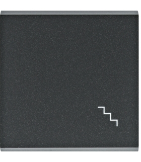 """lumina Klawisz z symbolem """"Schody"""", czarny Hager WL6033"""
