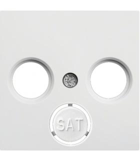 lumina Płytka czołowa RTV-SAT, biały Hager WL6310