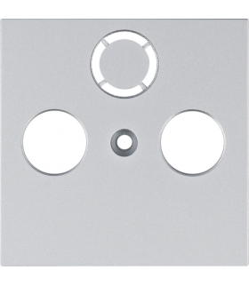 lumina Płytka czołowa RTV-SAT, srebrny Hager WL6312