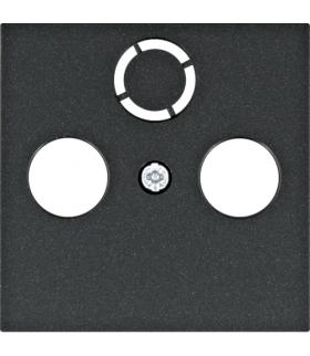 lumina Płytka czołowa RTV-SAT, czarny Hager WL6313