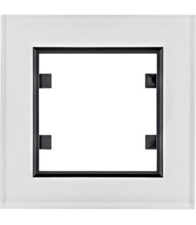 lumina passion Ramka 1-krotna, szkło białe Hager WL9010