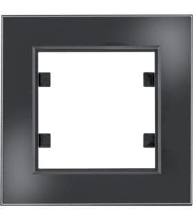 lumina passion Ramka 1-krotna, szkło czarne Hager WL9011
