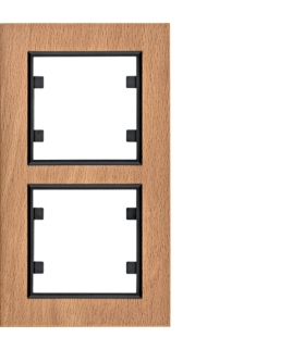 lumina passion Ramka 2-krotna pionowa, drewno buk Hager WL9125