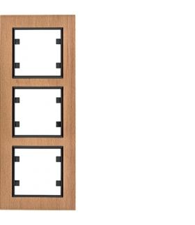 lumina passion Ramka 3-krotna pionowa, drewno buk Hager WL9135