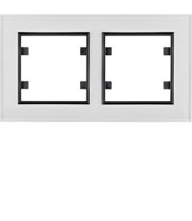 lumina passion Ramka 2-krotna pozioma, szkło białe Hager WL9220