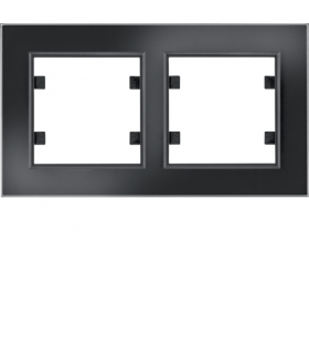 lumina passion Ramka 2-krotna pozioma, szkło czarne Hager WL9221