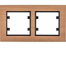 lumina passion Ramka 2-krotna pozioma, drewno buk Hager WL9225