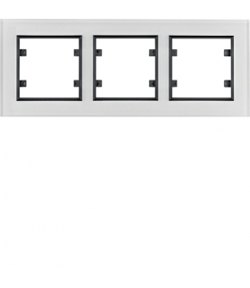 lumina passion Ramka 3-krotna pozioma, szkło białe Hager WL9230
