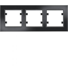 lumina passion Ramka 3-krotna pozioma, szkło czarne Hager WL9231
