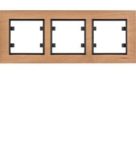 lumina passion Ramka 3-krotna pozioma, drewno buk Hager WL9235