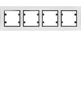 lumina passion Ramka 4-krotna pozioma, szkło białe Hager WL9240