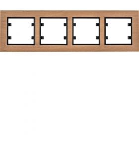 lumina passion Ramka 4-krotna pozioma, drewno buk Hager WL9245