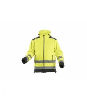 ARGEN kurtka ostrzegawcza softshell z kapturem żółty M