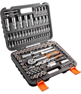 Zestaw kluczy nasadowych 1/2 i 1/4 NEO 108 elementów