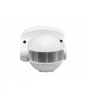Czujnik ruchu CR-1, max 1200W, AC220-240V, 50/60Hz, kąt działania 180*, zasięg 10m ± 1,8- 2,5m, IP44