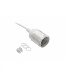 Gniazdo E27 z przewodem i kostką,AC220-240V,max.60W,2x0,75mm2,16cm,biały