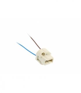 Gniazdo G9 z przewodem, AC220-240V, max.100W,2x0,5mm2,12cm,biały