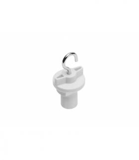 Hak do mocowania w szynoprzewodzie, 52 mm, biały