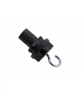 Hak do mocowania w szynoprzewodzie, 52 mm, czarny