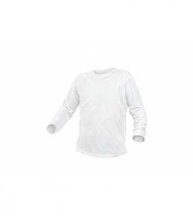 Koszulka dł.rękaw bawełniana, biały, XL