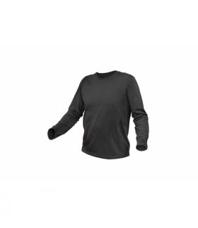 Koszulka dł.rękaw bawełniana, grafitowy, XL