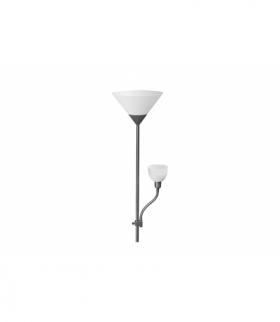 Lampa podłogowa BENFICA 2, max 60W -E27, max 40W - E14, AC220-240V, 50/60Hz, szary
