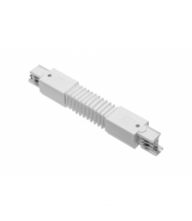 Łącznik elastyczny do szynoprzewodu 3-fazowego X-RAIL, 249 mm, biały