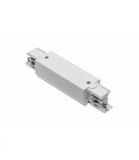 Łącznik elektryczny do szynoprzewodu 3-fazowego X-RAIL z możliwością zasilania, 166x35mm, biały