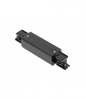 Łącznik elektryczny do szynoprzewodu 3-fazowego X-RAIL z możliwością zasilania, 166x35mm, czarny
