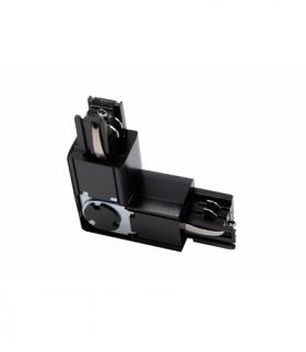 Łącznik L 90° regulowany do szynoprzewodu 3-fazowego X-RAIL, 101x101mm, regulowany, Z/W, czarny