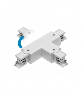 Łącznik T do szynoprzewodu 3-fazowego X-RAIL, 166x101mm, regulowany ZL/WL, biały
