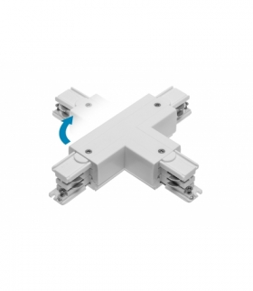 Łącznik T do szynoprzewodu 3-fazowego X-RAIL, 166x101mm, regulowany ZP/WP, biały