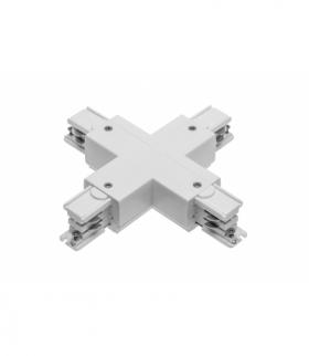 Łącznik X do szynoprzewodu 3-fazowego X-RAIL, 166x166mm, biały