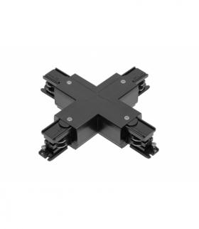 Łącznik X do szynoprzewodu 3-fazowego X-RAIL, 166x166mm, czarny