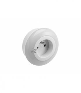 Mini lampka wtykowa LED ML1 z cz.zmierzchowym,1W,50lm,AC220-240V/50-60Hz,IP20,4000K,AUTO/OFF/ON