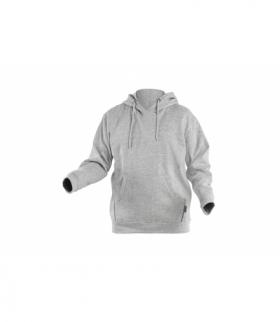 NIERS bluza bawełniana szary melanż XL