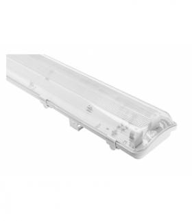 Oprawa hermetyczna HAGEN LED 218, T8 LED, G13, AC220-240V, 50/60Hz, IP65, PC/PC, z okablowaniem po