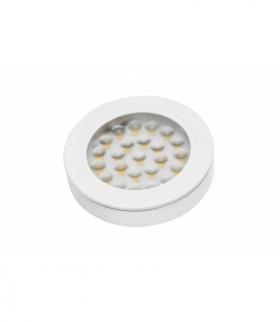 Oprawa LED biały połysk wpuszczana z dystansem Vasco, 12V DC, 1.7W, 24 SMD3528, ciepły biały, 200cm