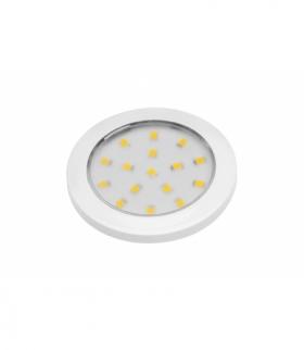 Oprawa LED Lumino biały połysk 12V DC, 1.5W, 16 SMD3528, ciepły biały, 2m przewód z miniAMP